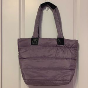 Puffer style tote bag